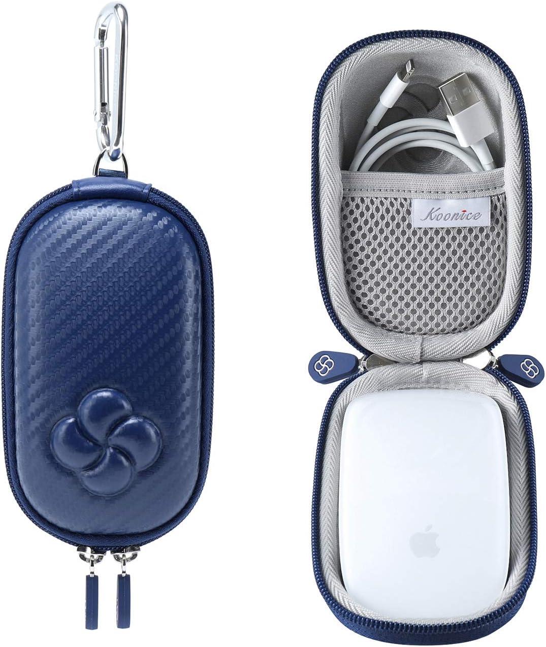 Koonice Hard Case Compatible for Apple Magic Mouse (I and II 2nd Gen) Including Carabiner (Navy Blue)