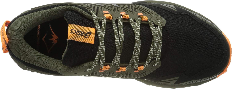 ASICS Damen Gel-Fujitrabuco 8 Running Shoe, Schwarz, 43.5 EU Mantle Green Black