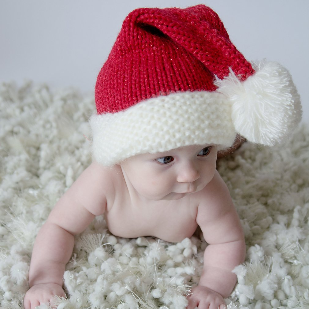 Huggalugs Baby Toddler /& Adult Pink or Red Sparkle Santa Hat