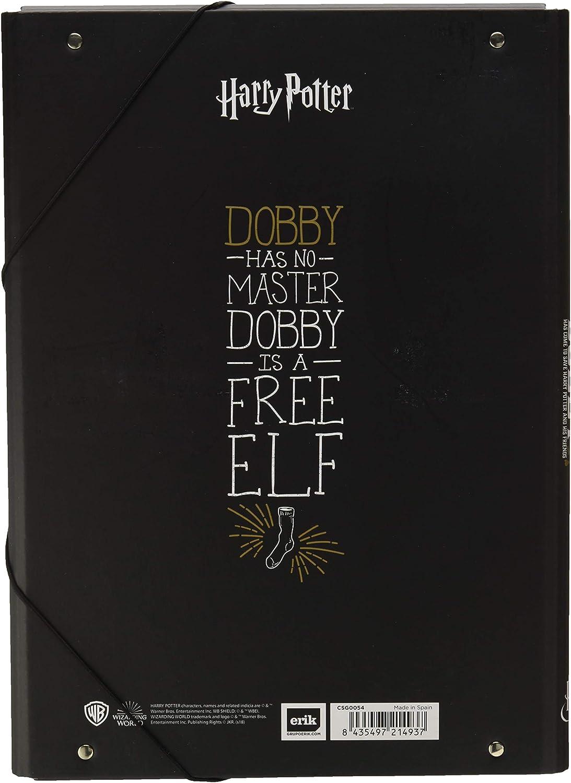 24x34 cm cartone Cartellina rigida con elastico Harry Potter Boccino dOro Grupo Erik ideale come cartellina portadocumenti A4