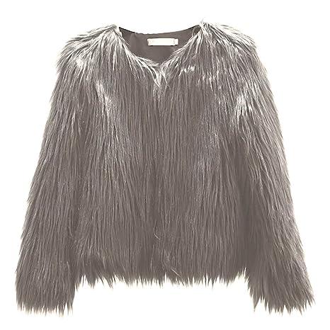 Mujeres Invierno Cálido Abrigo Corto Mujer Ropa Abrigo de piel sintética coreana lavar lana corto abrigo