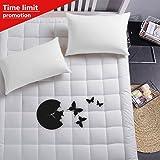 Luxury Collection 100% Cotton 300 Thread Mattress Pad Cover Down Alternative Mattress Topper (Queen)