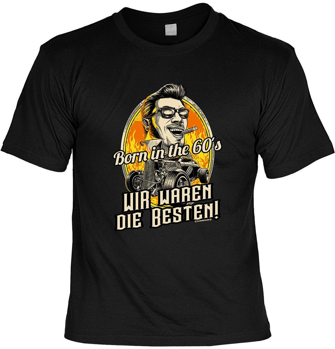 Geburtstag Set: Fun T-Shirt Born in the 60s Wir waren die Besten! + Mini T- Shirt Happy Birthday - Farbe: schwarz + weiss: Amazon.de: Bekleidung