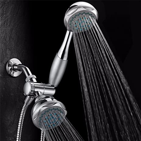 Amazon.com: Shower Head Double head shower head Multifunctional 3 ...