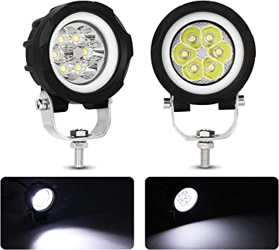 Fog lights Waterproof Replacement Motorcycle External Headlight 12V White
