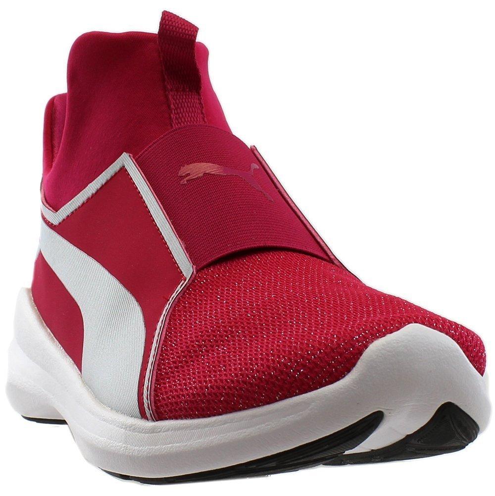 PUMA Unisex-Kids Rebel Mid Gleam Sneaker, Love Potion Silver, 6 M US Big Kid