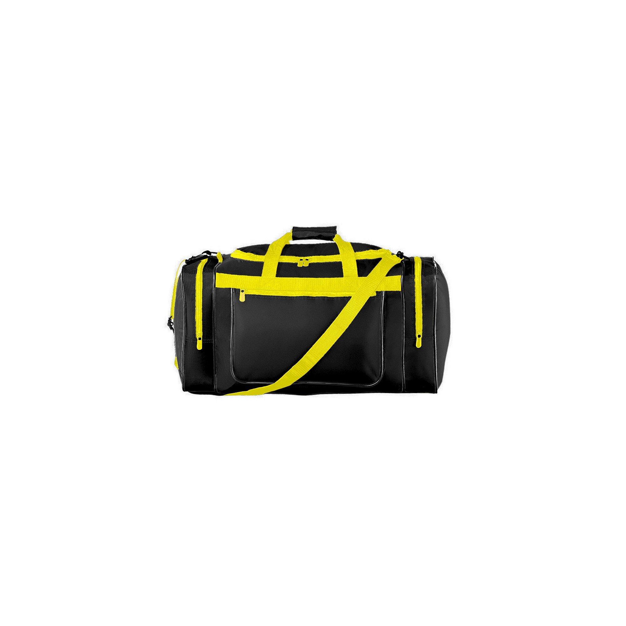 Augusta Sportswear Gear Bag OS Black/Power Yellow