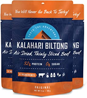 product image for Biltong -- Zero Sugar, Air Dried Beef - Non-GMO - 2 oz - 3 Pack (Original)