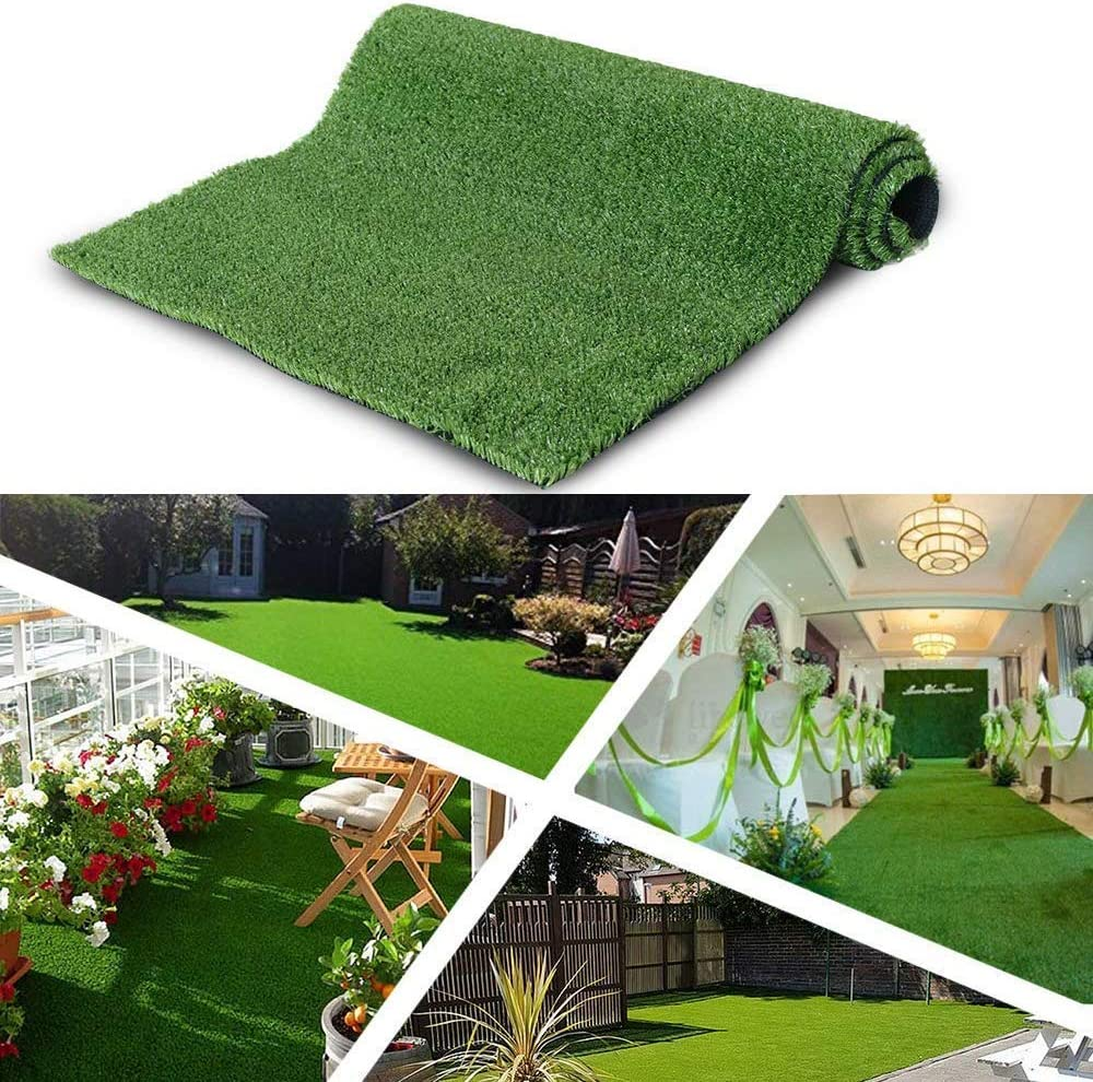 ALTRUISTIC Customized Synthetic Artificial Grass Mat 5ft x 15ft,Indoor Outdoor Garden Lawn Landscape Turf for Pets, Faux Grass Rug with Drainage Holes