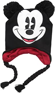 928134390 Amazon.com: Disney Mickey Mouse Character Adult Black Winter Knit ...
