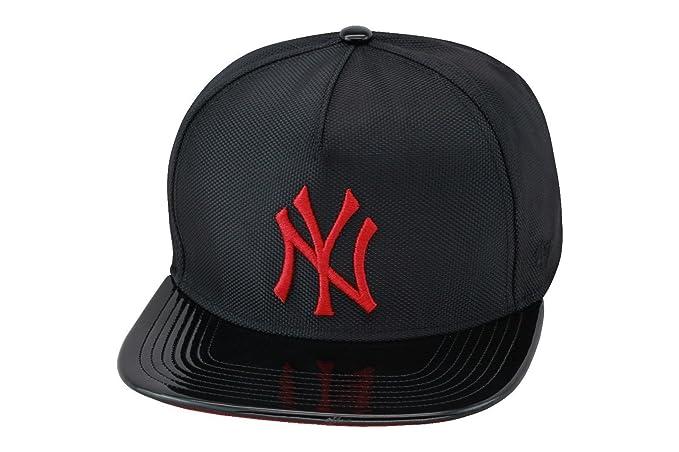 47 Brand New York Yankees Strapback sombrero gorra Negro/Rojo ...