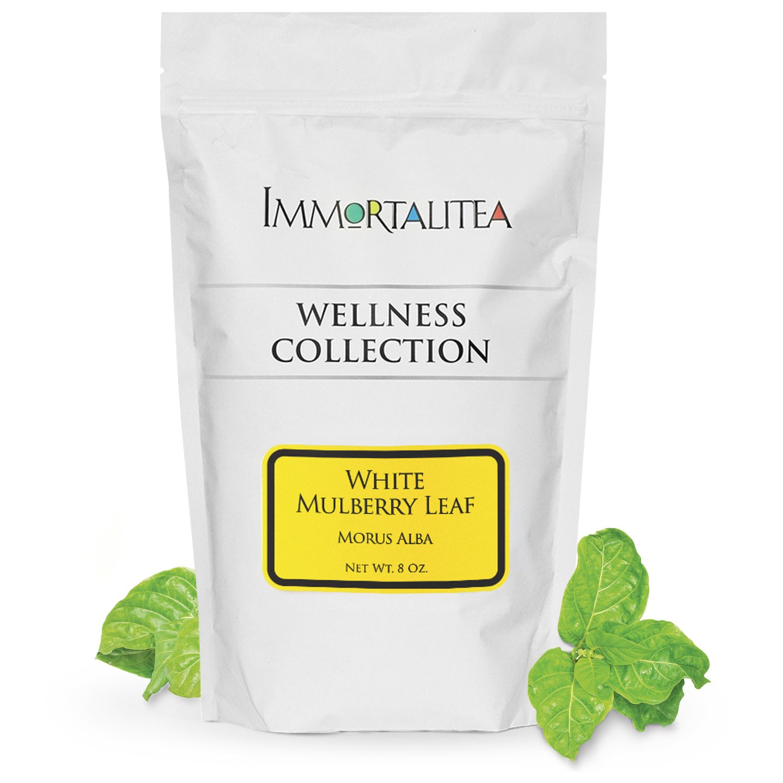 White Mulberry Tea - Loose Leaf - Blood Sugar Balance Herbal Tea - Pure Morus Alba - Caffeine-Free - 8 Ounce