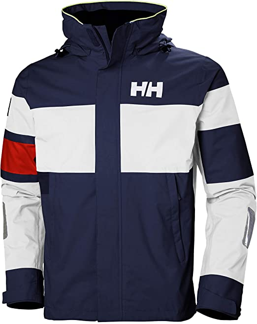 Helly Hansen SALT LIGHT JACKET – Atmungsaktive Segeljacke mit Reflektoren zum Inshore Segeln – Wasserdichte Allwetter Jacke für Herren