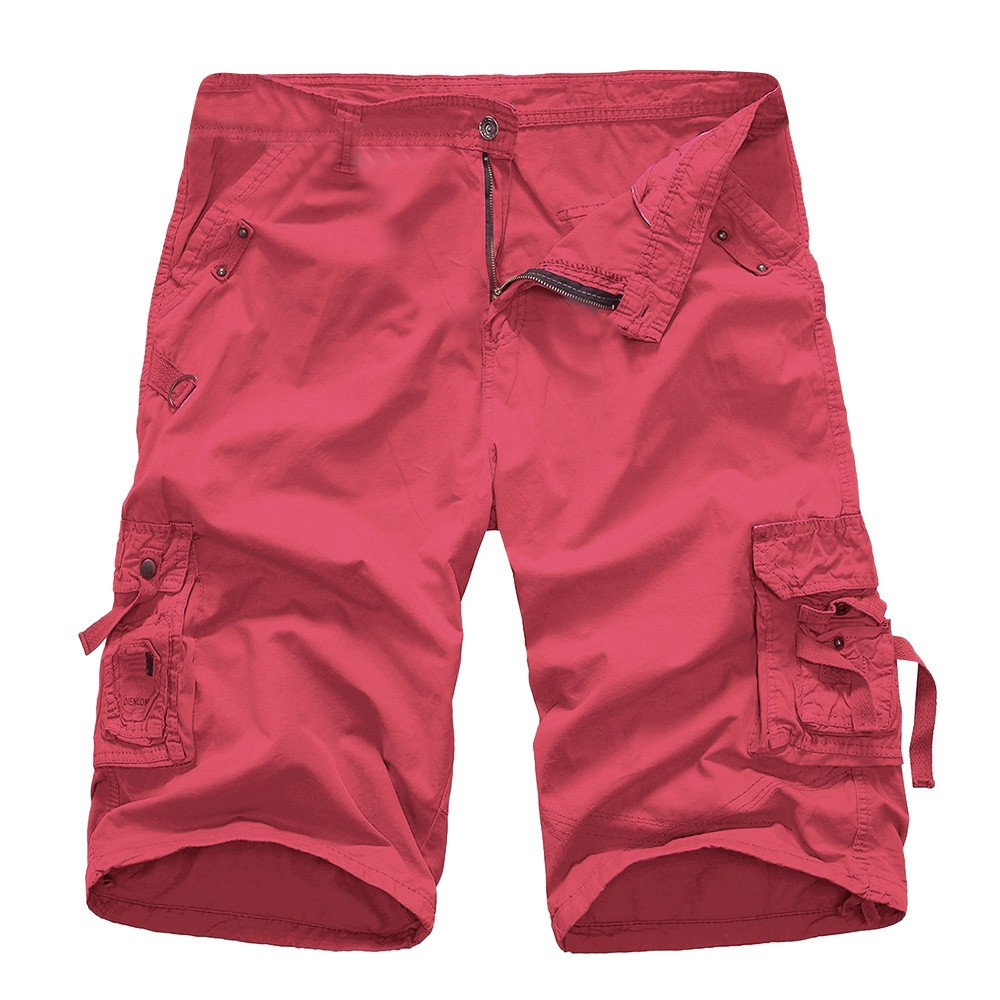 JYJM Herren Fashion Solid Color Short M/änner Multi Pocket Shorts M/änner Outdoor Sport Overalls beil/äufige M/änner f/ünf Hosen M/änner Strand Shorts Herren Trend G/ürtel Shorts Herren Arbeitshosen