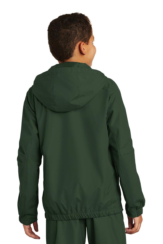 YST73 Sport-Tek NEW Youth Hooded Raglan Jacket