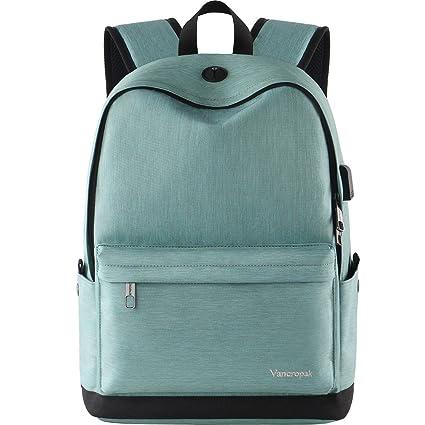 ac3905f64eab Vancropak Student Bookbag,Durable School Laptop Backpack with USB Charging  Port,Travel College Bag for Men Women Boys Girls,Outside Water Resistant ...