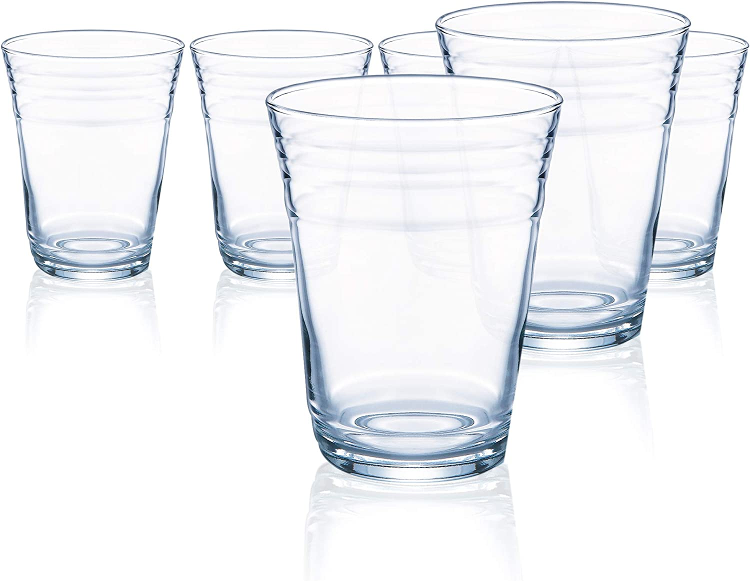 Juice Cocktail Drinking Beverage Glasses on a Stem Set of 4-pc Luminarc Cheerful 10 Oz Crystal-Clear Highball Water Soda