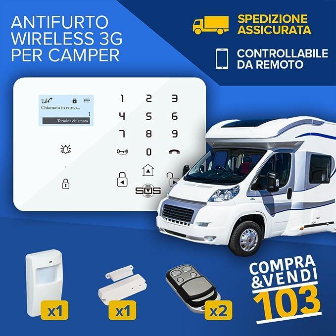 Compraevendi103 Kit de Alarma Antirrobo Para Caravana Camión ...