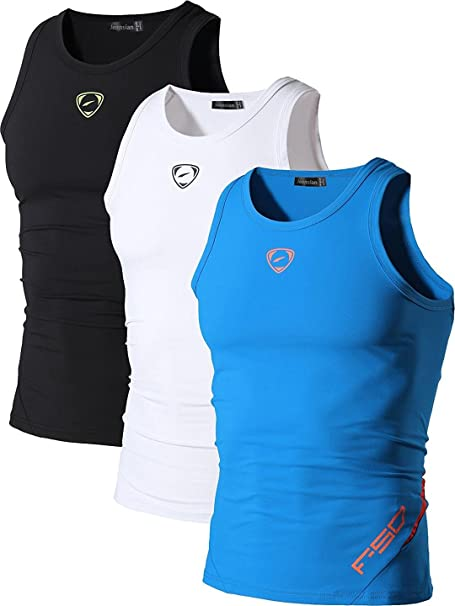 1aa381e338 Jeansian 3 Packs Hombre Camiseta Deportiva Sin Mangas Muscle Fitness  Chaleco Deportivo Men Vest Tank Tops LSL3306  Amazon.es  Ropa y accesorios