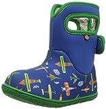 Bogs Baby Snow Boot, Planes Blue/Multi, 6 M US