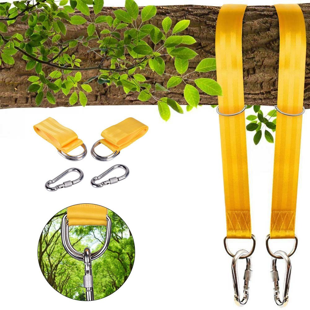 Colisivan Tree Swing Hanging Straps, Tree Swing Hanging Kit for Hammock Chair Rope with Safety Lock Carabiners Carrying Bag Holds Up to 1700 Lbs, Easy To Use
