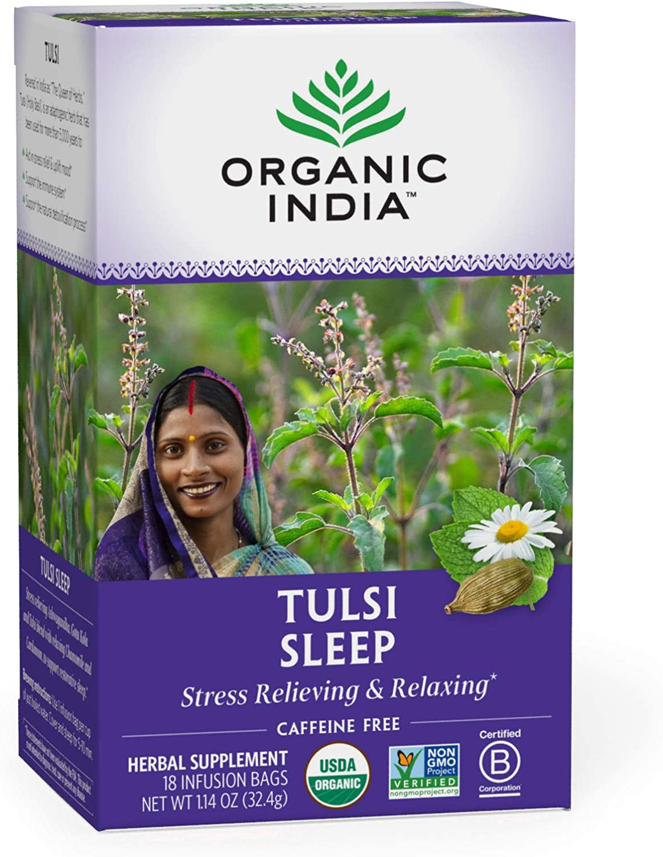 Chá Tulsi Sleep 25 Sachês - Organic India
