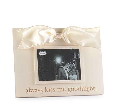 Amazon.com - Mud Pie Always Kiss/Good Night Linen Photo Frame ...