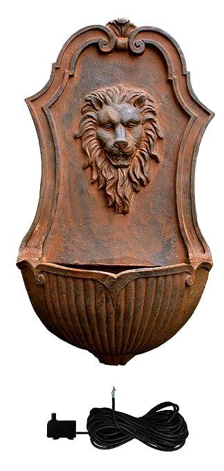 Fontana da muro   testa di leone: amazon.it: giardino e giardinaggio