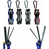 Mens Gents Men Man Him - Number One Selling Red Foldable Multi Sized Allen Keys With Clip - Handy Little Gadget - Perfect for Secret Santa Stocking Fillers Fathers Day Xmas Christmas Birthday Valentines Anniversary Gift Present Idea - One Supplied