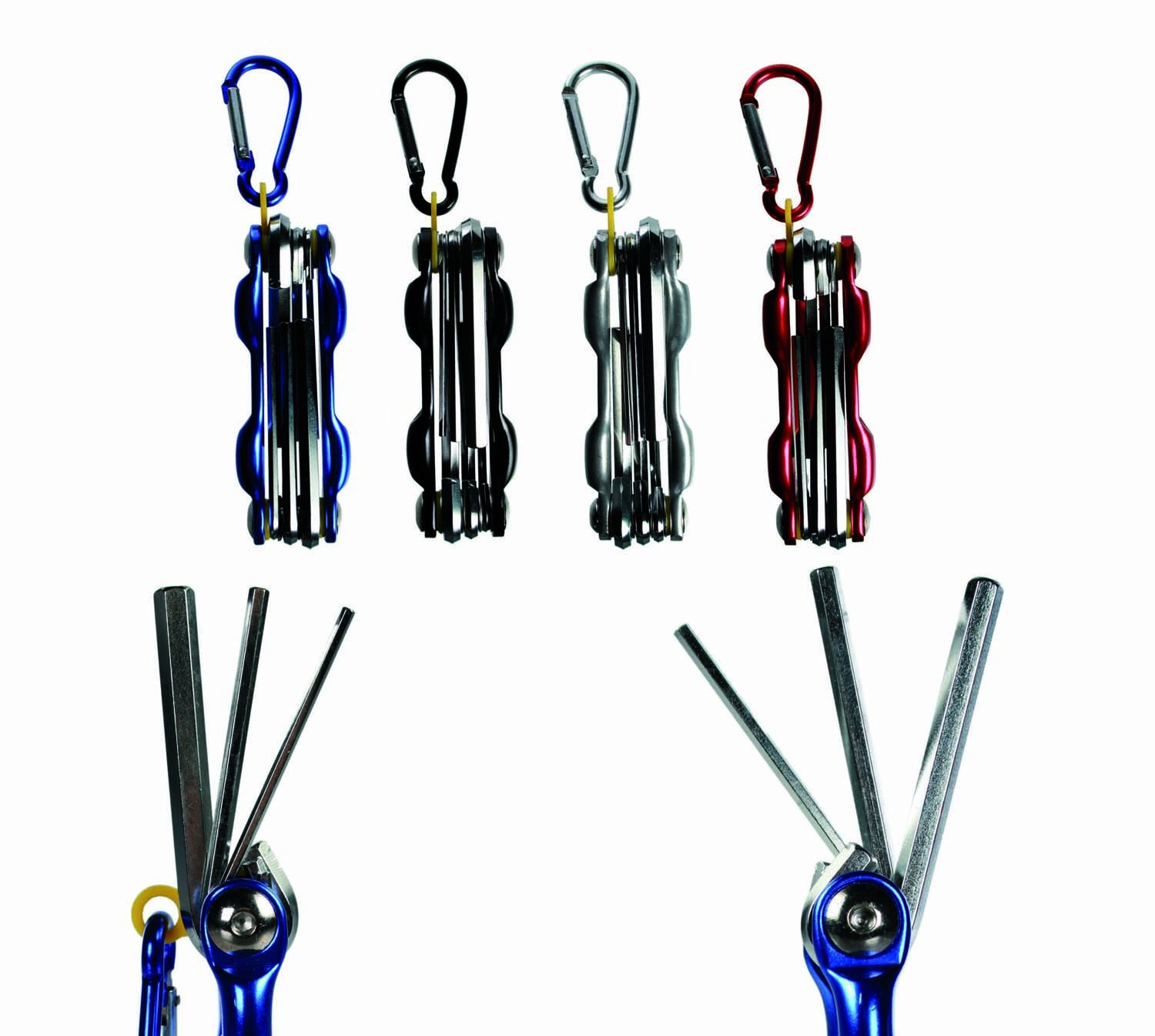 Great Quality Present Gift. Red Foldable Multi Sized Allen Keys Tool with Belt Clip. Great for Any Tool Box Gifts For All Emporium