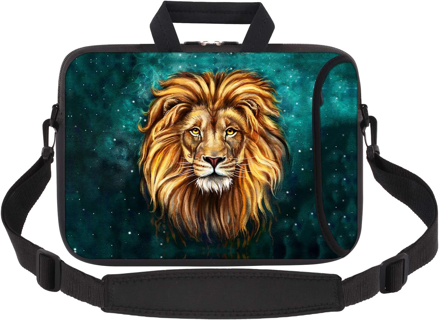 iCasso Laptop Sleeve 11.6-12.1 Inch Stylish Soft Neoprene Sleeve Case Cover Handbag for MacBook Air 11,MacBook Retina 12 Inch/iPad Pro/Ultrabook Netbook Tablet (Lion)