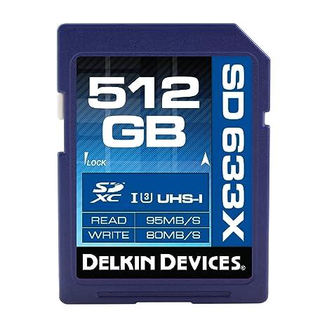 Delkin 512GB SDXC 633X UHS-I (U3) Memory Card (DDSD633512GB)