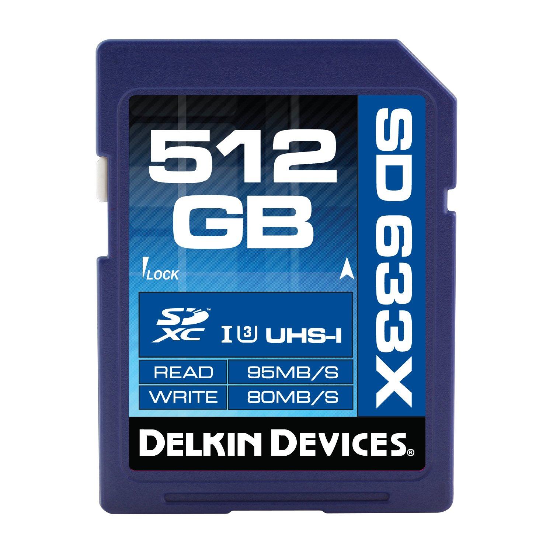 Delkin 512GB SDXC 633X UHS-I (U3) Memory Card (DDSD633512GB) by Delkin
