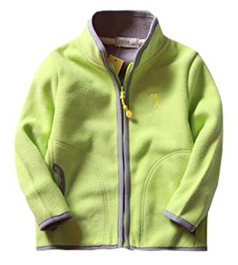 Girls Winter Jacket Classic Pure Colour Thicken Cotton Fleece Zipper Up Outcoat 2-3T Green