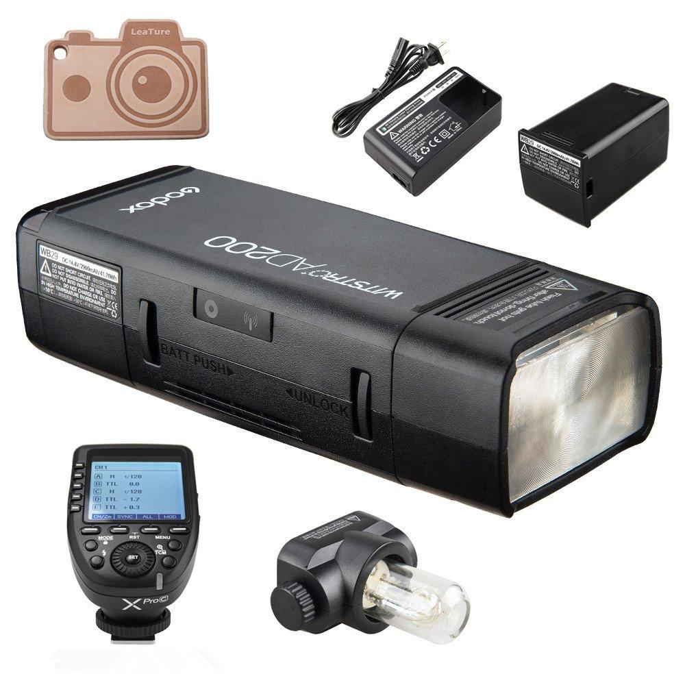 Godox ad200 TTLフラッシュポケットフラッシュ、内蔵2.4G無線Xシステム、2900 mAhリチウム電池,0.012.1秒で500フルパワーフラッシュをリサイクルし、XPro専業ショナルトランスミッタトリガ (AD200+XProC (for Canon)) AD200+Xpro-C ( For Canon)  B0794P337L