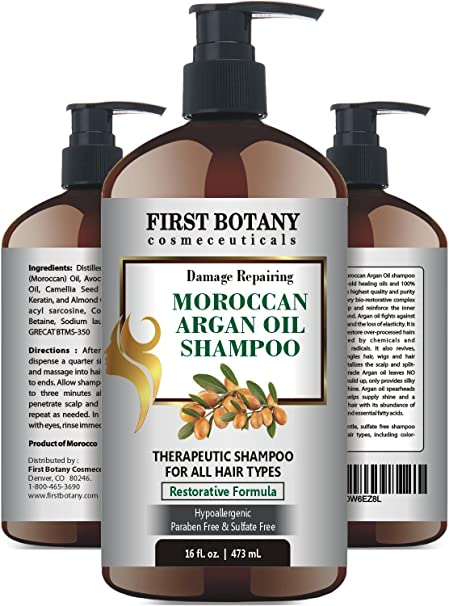 Moroccan Argan Oil Shampoo with Restorative Formula 16 fl. oz.