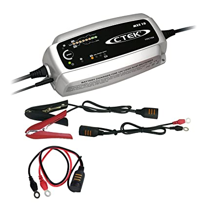Ctek MXS 10 batería Cargador + schnellkontaktkabel M8 ...