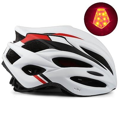 Casque De Vélo Avec La Lumière De Led Kinglead Réglable Protection