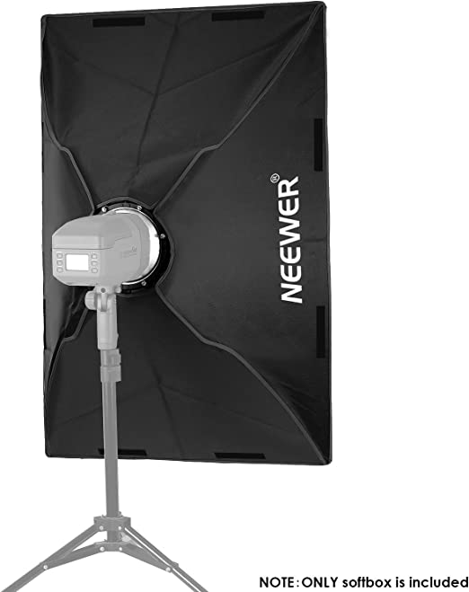 Neewer Tragbare 60x90 Zentimeter Rechteckige Softbox Kamera