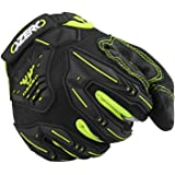 Motocross Gloves for Men with Impact Protective Big Gel - Hyflex Touch screen Fingertips and Extra Grip Deerskin Leather Palm for Motorcycle/Mountain/Dirt Bike/Cycling Race/ATV Driving X-Large Black