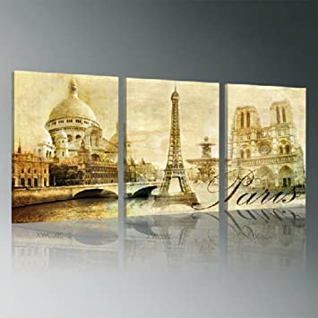 Amazon.com: Canvas paintings, Wall decor Picture Artwork 3-pieces ...