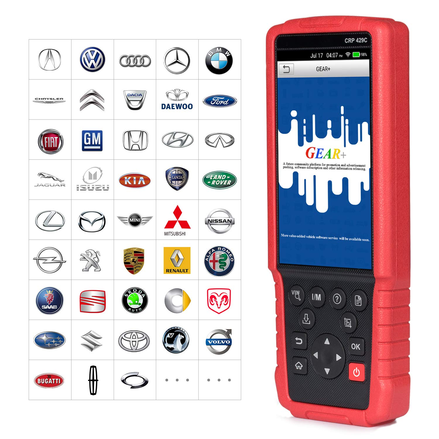 LAUNCH CRP429C OBD2 Diagnostic Scan Tool ENG/TCM/ABS/SRS with Oil Lamp Reset,ABS Bleeding,EPB,DPF Regeneration,IMMO,Injector Coding,BMS,TPMS Reset,SAS+EL50448 TPMS As Gift by LAUNCH (Image #6)