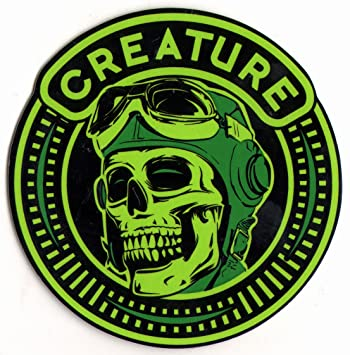 Creature die high skateboard sticker 9cm high approx skate snow surf board bmx guitar