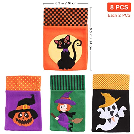 Amazon.com: Hemoton 8PCS Halloween Candy BagsTrick or ...