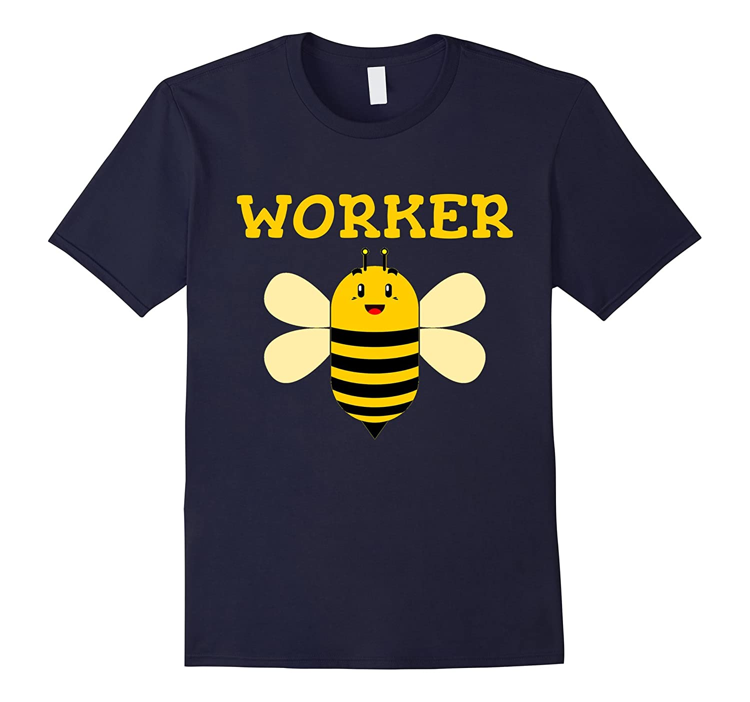 Worker Bee Funny Beekeeping Text Graphic T Shirt-Rose