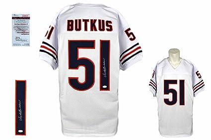 26bc1cbb89b Dick Butkus Signed Custom Jersey - JSA Witness - Autographed - Pro Style -  White