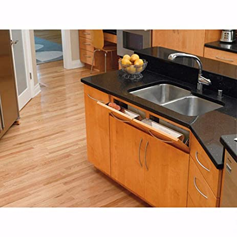 Rev A Shelf 6581 Series   Sink Front Tip Out Trays Stainless