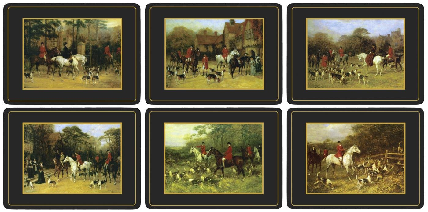 Pimpernel Tally Ho Placemats - Set of 6 by Pimpernel