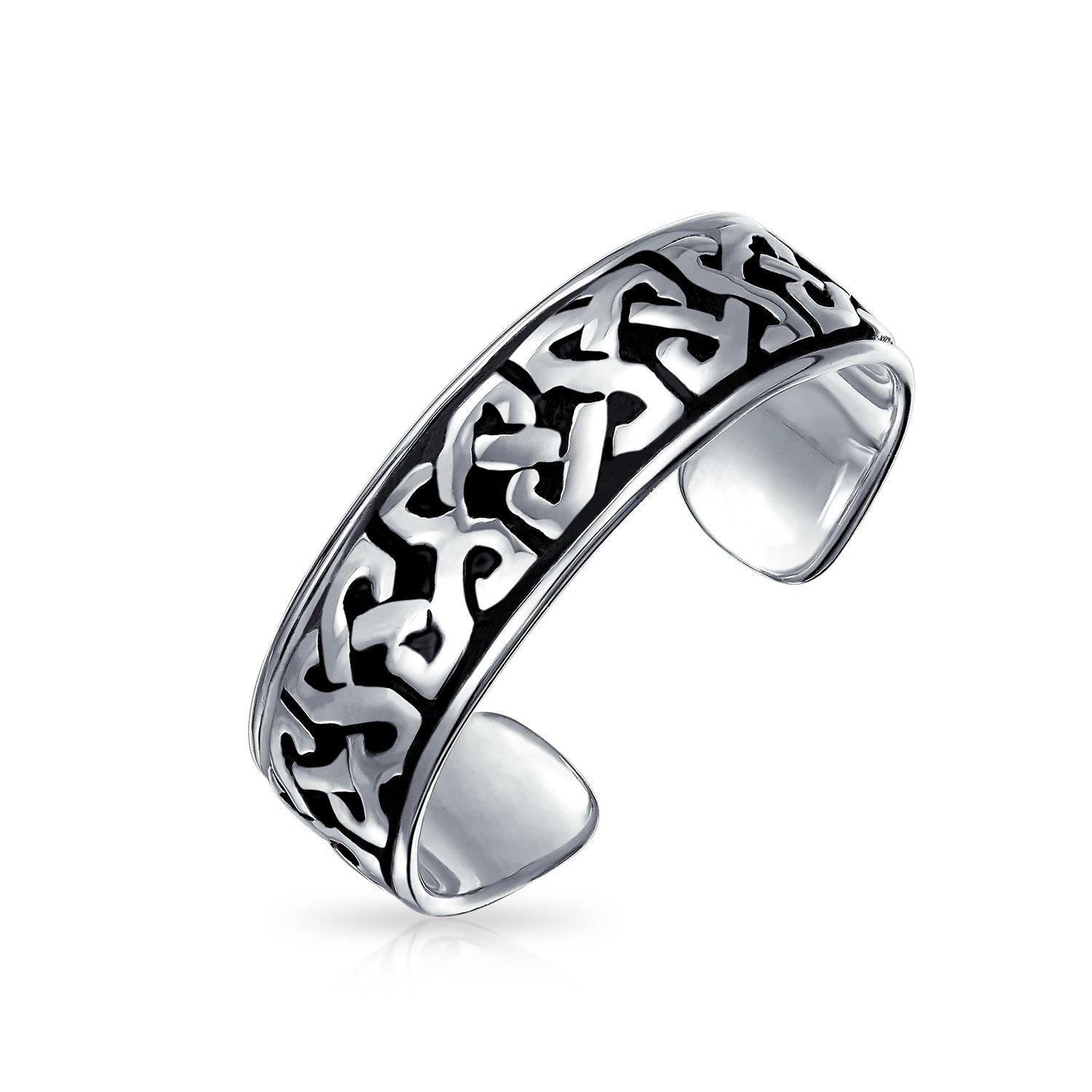 Bling Jewelry Celtic Knot Mid Finger Ring 925 Silver Adjustable Toe Rings PMR-R11050