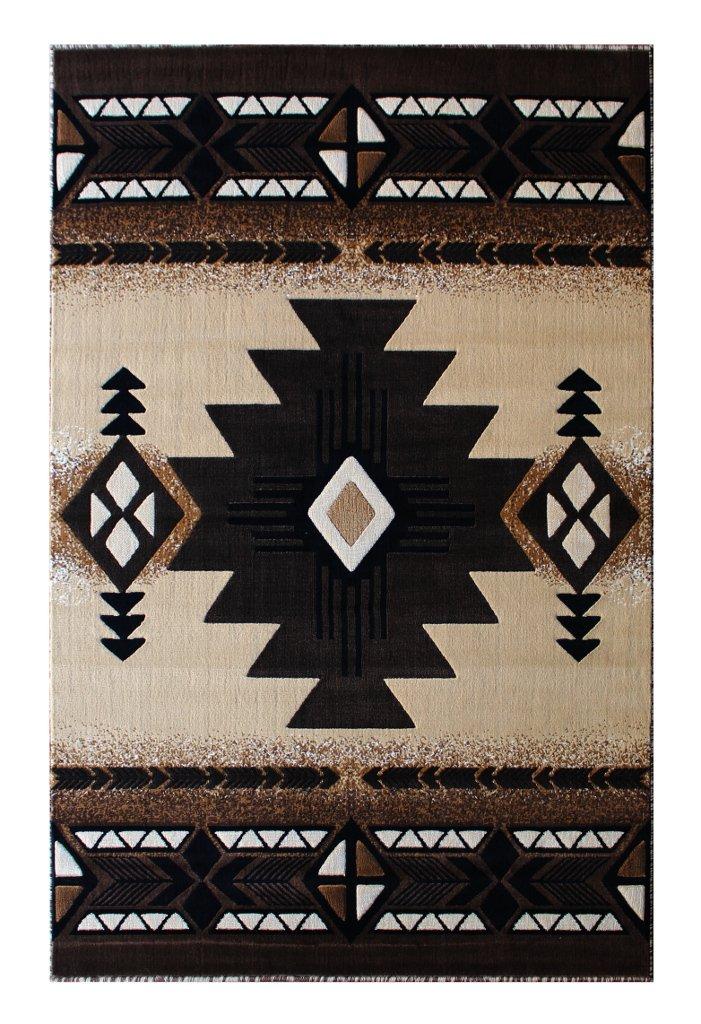 South West Native American Area Rug 8 Feet X 10 Feet Berber Design C318